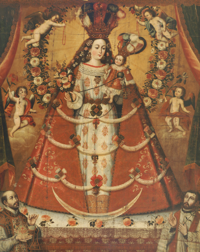Our Lady Of The Rosary by Cuzco School