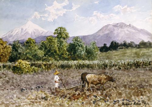 Campesino Arando, 1913 by Augusto Lohr