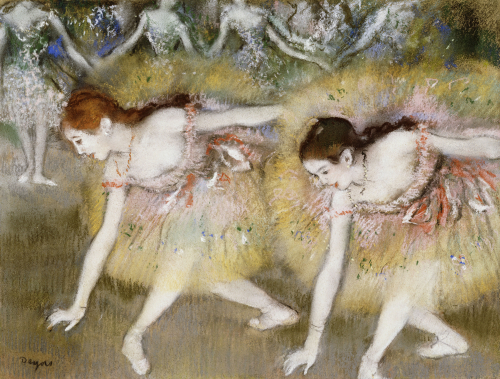 Dancers Bending Down by Edgar Degas
