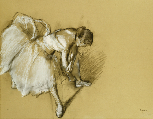 Dancer Adjusting Her Shoe, Circa 1890 by Edgar Degas