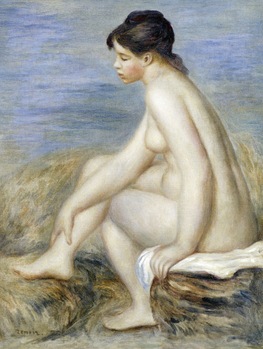 A Seated Bather by Pierre Auguste Renoir