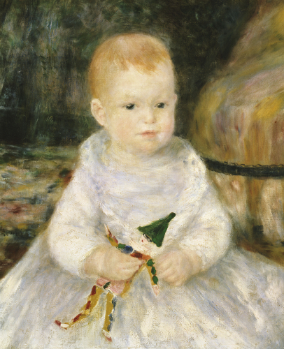 Child with A Toy Clown by Pierre Auguste Renoir