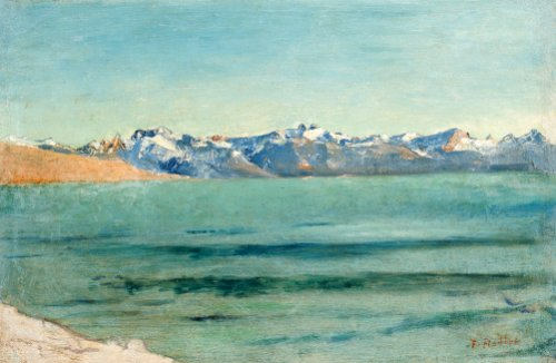 Sunrise Over Mont Blanc, Circa 1890 by Ferdinand Hodler