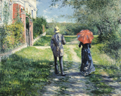 The Path Uphill. Chemin Montant, 1881 by Gustave Caillebotte