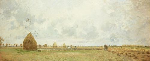 Autumn, 1872 by Camille Pissarro