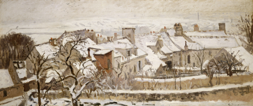 Winter, 1872 by Camille Pissarro