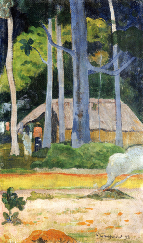 Hut In The Trees, 1892 by Paul Gauguin
