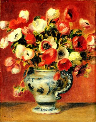 Vase D'Anemones, 1890 by Pierre Auguste Renoir