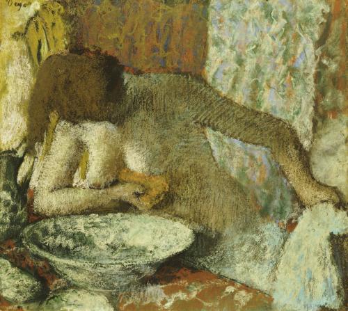 Woman At Her Toilet, Circa1897 by Edgar Degas