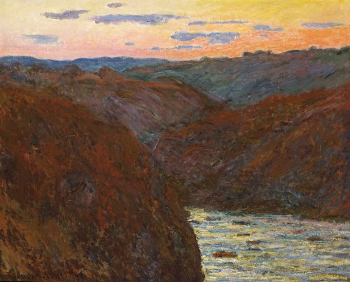 La Creuse, Sunset by Claude Monet