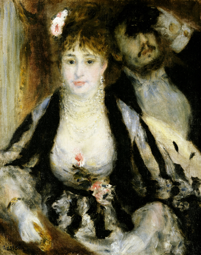 The Theatre Box, 1874 by Pierre Auguste Renoir