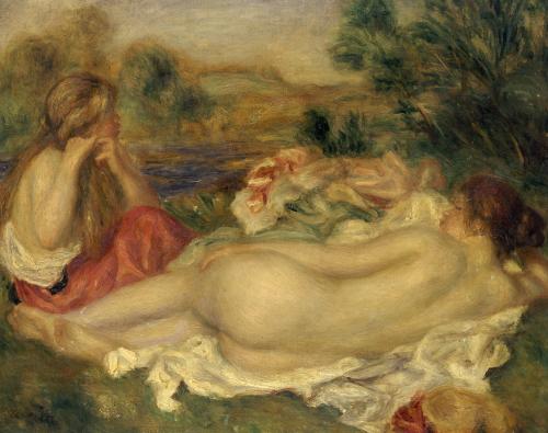 Two Bathers, 1896 by Pierre Auguste Renoir
