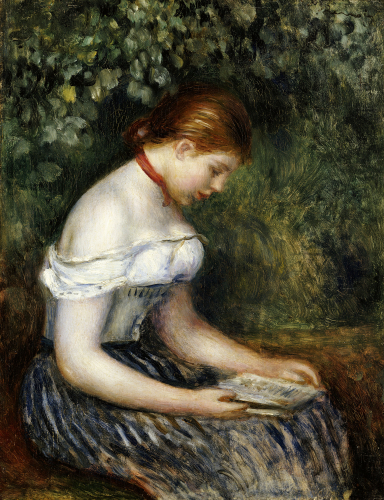The Reader (A Young Girl Seated), 1887 by Pierre Auguste Renoir