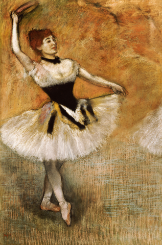 Dancer With A Tambourine 1882 by Edgar Degas