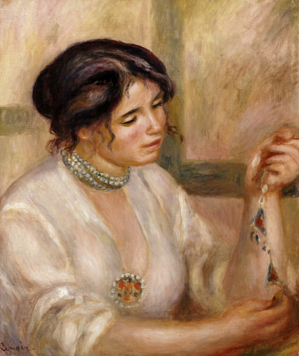 Woman With A Collar by Pierre Auguste Renoir