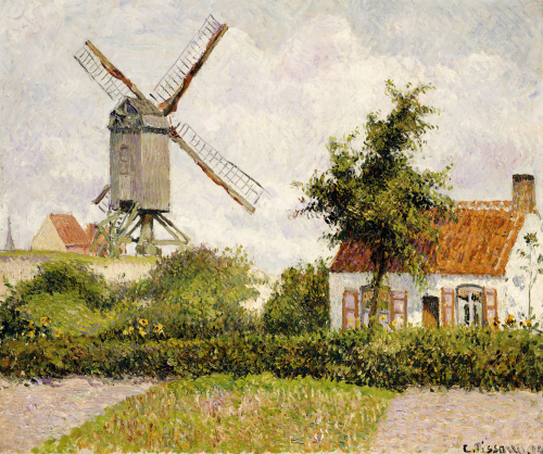 Windmill at Knock, Belgium, 1894 by Camille Pissarro