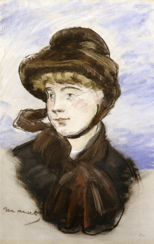 Young Girl In A Brown Hat, 1882 by Edouard Manet