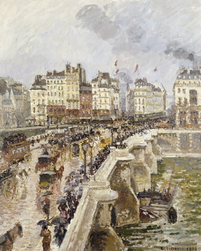 The Pont Neuf On A Rainy Afternoon, 1901 by Camille Pissarro