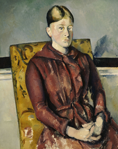 Madame Cezanne With A Yellow Armchair, 1888 by Paul Cezanne
