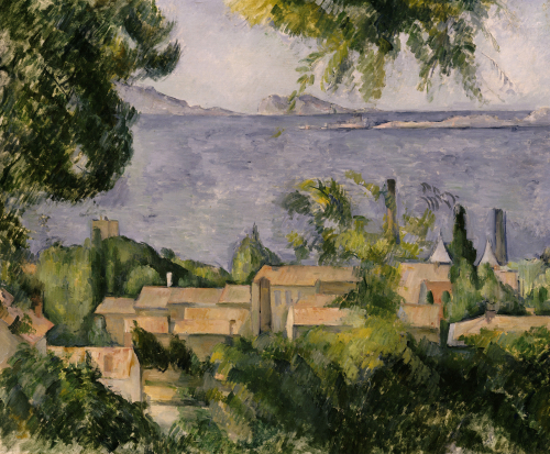 The Rooftops Of L'Estaque, 1883-85. by Paul Cezanne