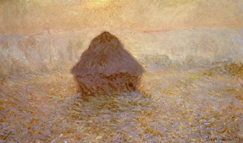 Haystacks, Sun On The Mist by Claude Monet