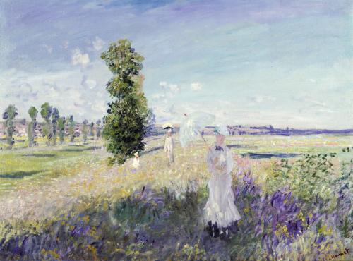 La Promenade (Argenteuil), 1875 by Claude Monet
