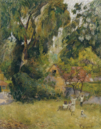 Huts Under The Trees by Paul Gauguin