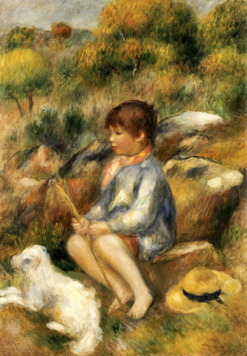 Young Boy By A Brook, 1890 by Pierre Auguste Renoir
