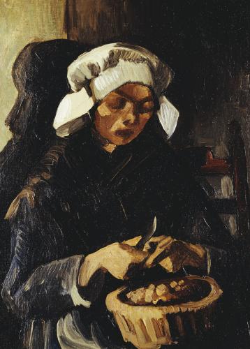 A Farmer From Neunen, Peeling Potatoes, 1885 by Vincent Van Gogh