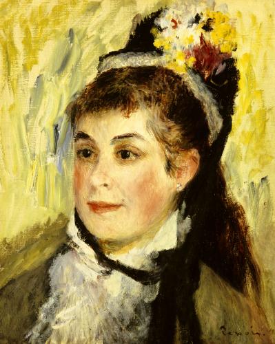 Portrait De Madame Edmond Renoir, 1876 by Pierre Auguste Renoir