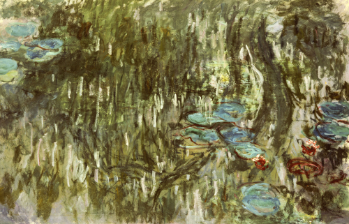 Water Lilies, Reflected Willow, 1920 by Claude Monet