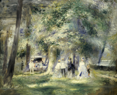 In The Park At Saint-Cloud, 1866 by Pierre Auguste Renoir