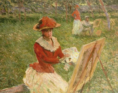 Blanche Hoschede Peignant, 1892 by Claude Monet
