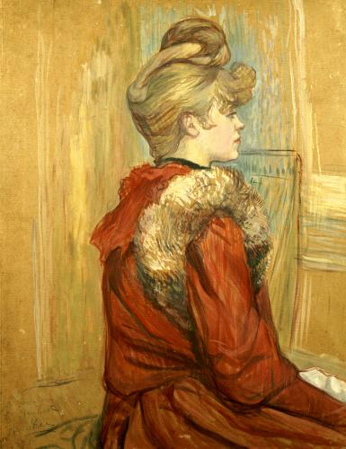 Girl In A Fur, Miss Jeanne Fountain, 1891 by Henri de Toulouse-Lautrec