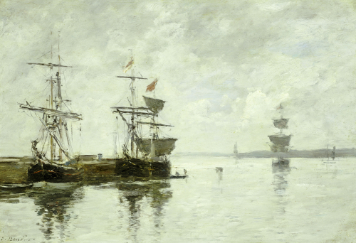 Scene Du Port, Circa 1880 by Eugene Louis Boudin