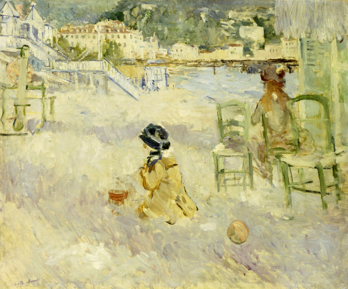 Plage De Nice, 1882 by Berthe Morisot