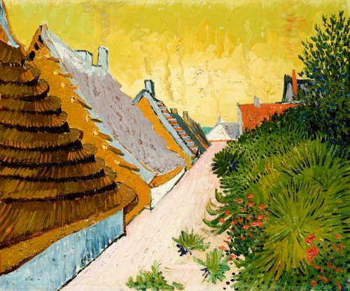 Farmhouses At Saintes-Maries, June 1888 by Vincent Van Gogh