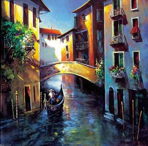 Daybreak in Venice by Nancy O'Toole
