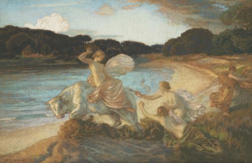 The Rape Of Europa, 1915 by Marie Auguste Emile Rene Menard