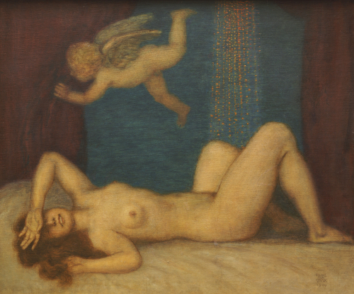 Danae And The Golden Shower, 1909 by Franz Von Stuck