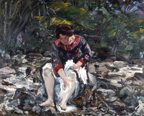 Girl In The Brook, 1913 by Lovis Corinth