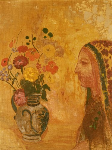 Profile Of A Woman by Odilon Redon