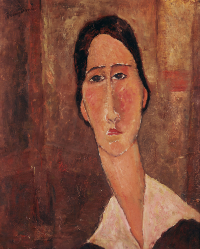 Portrait Of Jeanne Hebuterne by Amedeo Modigliani