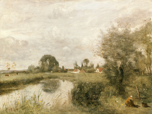 A View Of Arleux From The Marshes Of Palluel, 1873 by Jean-Baptiste-Camille Corot