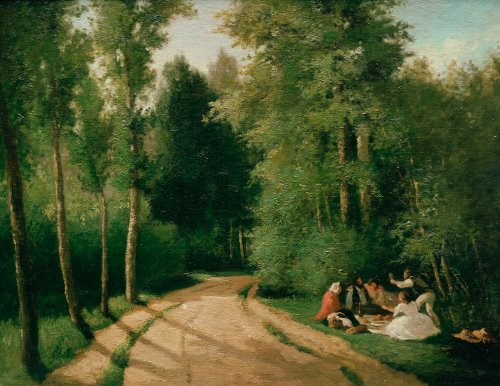 A Picnic At Montmorency, 1857 by Camille Pissarro