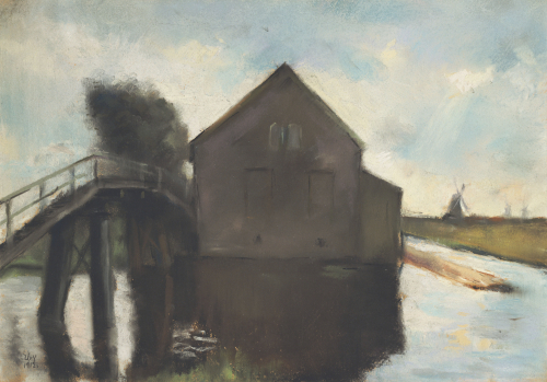 The Mill, 1912 by Lesser Ury