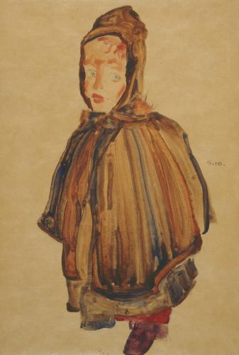 Woman With Bonnet by Egon Schiele