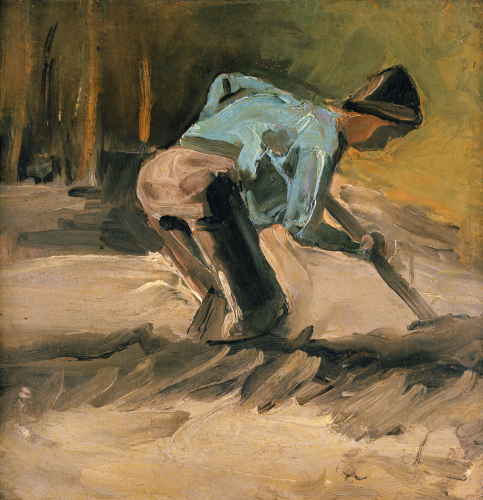 Man At Work, Circa 1883 by Vincent Van Gogh