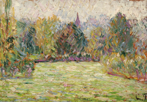 Bazincourt Countryside by Camille Pissarro