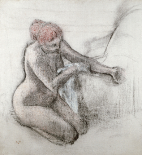 Nude Woman Drying Herself After The Bath, Circa 1898 by Edgar Degas